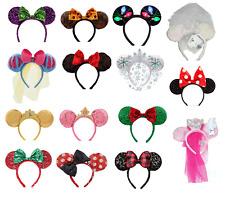 Disney Minnie Mouse Ears Headband Christmas Princess Halloween Mickey Belle Elsa