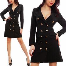 8392105d211d Vestito donna miniabito bottoni doppiopetto elegante business TOOCOOL  VB-80178