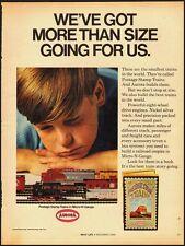 1968 vintage ad, AURORA HO SCALE, Micro-N-Gauge railroad trains- 122512