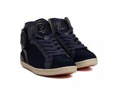 BARONS PAPILLON Sneakers Wildleder Suede Leather blau Gr. 42 45 NEU BOX NP 282€