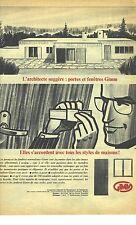 PUBLICITE ADVERTISING  1964  GIMM portes et fenetres