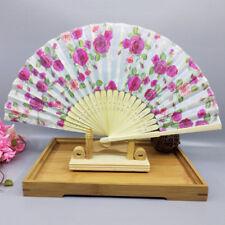 Modern Styles Fan Evening Party Gift Folding Fan Flower Silk for Ladies Shan