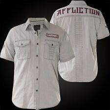 AFFLICTION Hemd Tribbett Grau Hemden