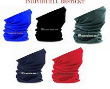 Halstuch BESTICKT mit Namen Multifunktionstuch individuell Schal Motorrad Morf
