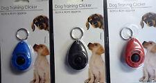 Dog Training Clicker (Red Blue or Black) Keyring.
