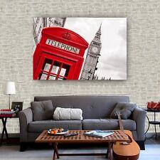 Art Paint Print Canvas Poster Vintage London Black White Wall Decor S74 Unframed