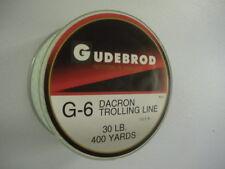 Gudebrod G6 IGFA Dacron Fishing Line Greenspot/Black - 12-180 Lb - 100-2000 Yds