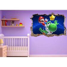Stickers 3D trompe l'oeil Mario Galaxy réf 23230