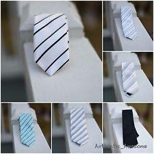 BRAND NEW Mens Silk Tie Skinny Slim Ties Striped Dress Suit Ties
