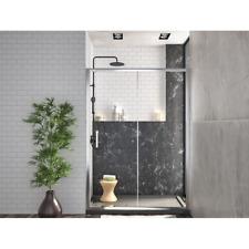 Box doccia porta nicchia scorrevole altezza 190 cm profilo cromato cristallo 6mm