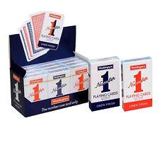 Waddingtons NUMERO 1 TELA finitura qualità Carte da gioco, mazzo rosso & Blu