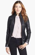 Women Leather Jacket Soft Solid Lambskin New Handmade Motorcycle Biker S M # 34