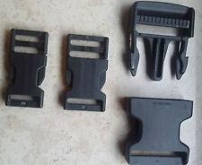 2 Stück Steckschnalle Gürtelschnalle Verschluss rot schwarz 15 - 50 mm