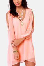 Women's Split Sleeve Designer Couture Goddess Tunic Top S-2X New Multi-Colors