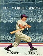 1939 WORLD SERIES PROGRAM PHOTO,YANKEES VS REDS YANKEES WIN 4 GAMES TO 8x10