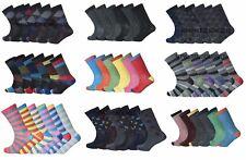Mens Striped Coloured Socks Designer Suit Fashion Funky Colour Socks Adults 6-11