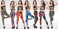Women Skinny Colorful Leopard Print Leggings Sexy Stretchy Elegant Harem Pants