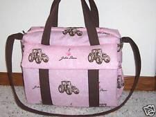New John Deere custom handmade EMIJANE Diaper Bag w/chg pad free embroidery