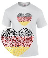 DEUTSCHLAND T-SHIRT Trikot Herz I LOVE GERMANY Fahne Flagge Fussball WM Fanshirt