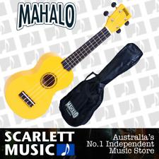 MAHALO Yellow Soprano Uke Ukulele MR1-YW w/Carry Bag & Aquila Strings
