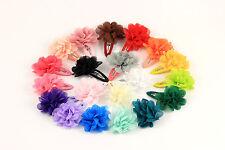 Haarspange Haarklammer Blume Blüte Chiffon 20 Farben Mädchen Haarschmuck K378