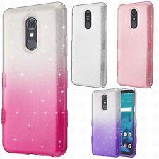 For LG Stylo 4 TUFF SHINE Hybrid Hard Case Rubber Phone Cover + Screen Guard