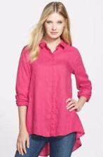 Eileen Fisher Ginger Pink Handkerchief Linen Classic Shirt XS, S