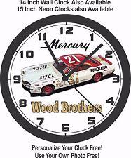 WOOD BROTHERS #21 PUROLATOR MERCURY NASCAR RACE CAR WALL CLOCK-FORD, CHEVROLET