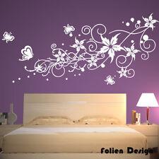 Wandtattoo Ranke Blumen Blumenranke Wallbild wandaufkleber Schmetterlinge pf40