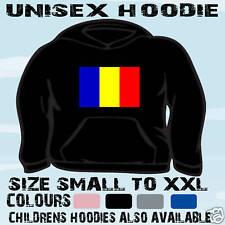 ROMANIA ROMANIAN FLAG EMBLEM UNISEX HOODIE HOODED TOP