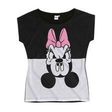 DISNEY t-shirt top femme  MICKEY DAISY XS S M L 34 36 38 40 42 blanc noir rose