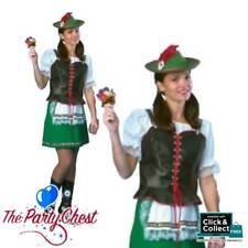 GERMAN BEER MAID COSTUME Womens Oktoberfest Bavarian Heidi Fancy Dress Outfit
