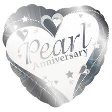 perle anniversaire de mariage 30th 45.7cm Ballon plat décoration pour fête