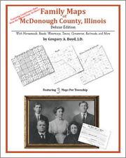 Family Maps McDonough County Illinois Genealogy IL Plat