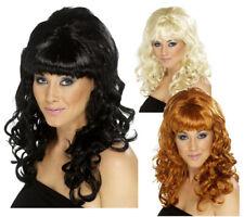Long Beehive Wig Ladies 1960s Fancy Dress Curly Wig 60s