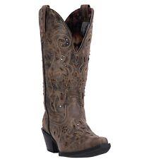 Laredo Ladies Vanessa Black/Tan Studded Western Boots 52050