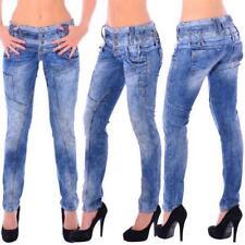 Cipo & Baxx WD 245 Damen Frauen Jeans Hose Jeanshose Röhre Stretch dirty blau