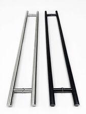 "Commercial 36"", 48"", 72"" Long Handles, Brushed or Flat Black, Push Pull Entrance"