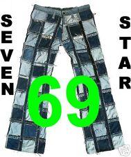 Vaqueros SEVEN STAR 69 g 31/34 Sexy Década de los 70 Cadera Boot-cut Pantalón