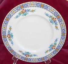 MINTON LUXOR B1005 DINNER PLATE S FLORAL VINTAGE ENAMEL HANDPAINTED 1924