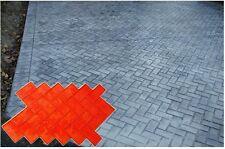 4 New Brick Herringbone Decorative Concrete Cement texture Stamps Mats Tools