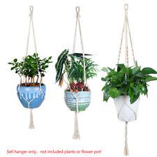 pure cotton rope flower pot hangers plant hanging basket holder 3 sizes set 72D