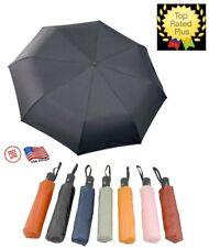Automatic Windproof Travel Folding Umbrella 3 Fold Compact XL Anti-UV Sun Rain