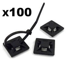 Pacco 100 Supporti Adesivi Per Inserimento Fascette Non Incluse Nuove