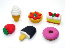 Pencil Eraser Rubber Set Kids Party Bag Fillers Candy Ice Cream Doughnut Theme