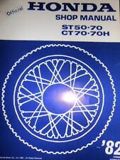 Honda Factory Shop Manual 1982 CT50 Addendum