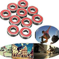 10Pcs Roller Skate Skateboard Longboard Wheel Bearings ABEC-5 608-2RS Set CA