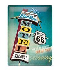 Route 66 Retro Blechschild/ Tin Sign 30 x 40 cm neu Modell The Blue Star Motel
