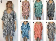 LADIES casual Dress Keyhole Sleeve OSFA Plus Larger Size 20 22 24 26  Paisley B1