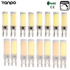 regulable bombillas LED G9 3w 6w COB 2835 SMD Silicona Cristal Blanco
